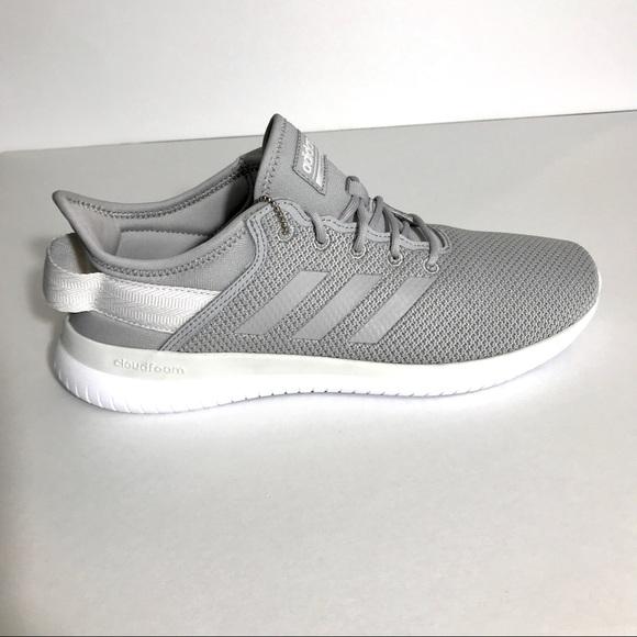 adidas Neo CF QTFlex Grey White Women Running Shoe NWT